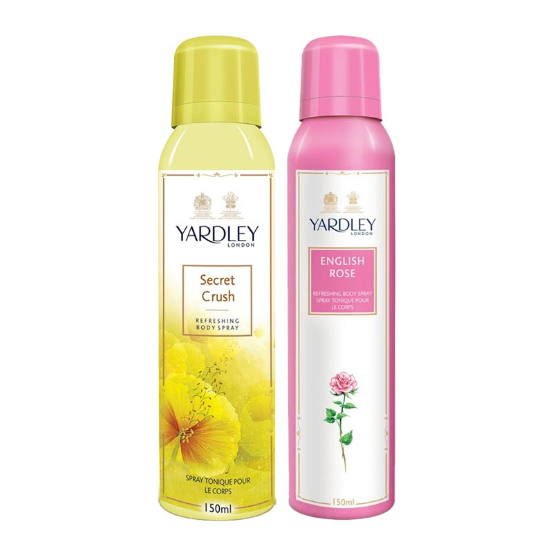 Yardley London Secret Crush, English Rose Pack of 2 Deodorants