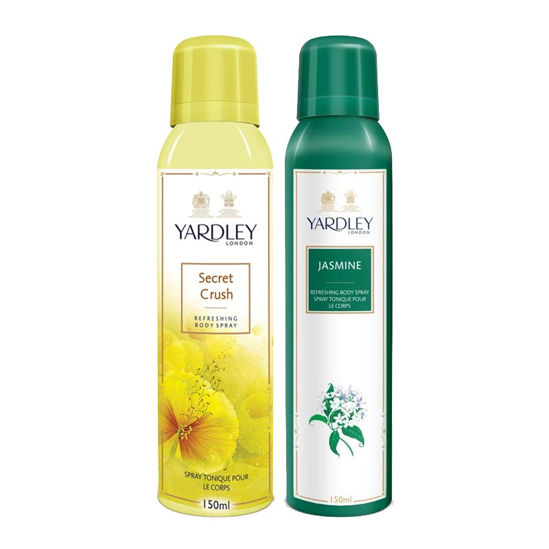 Yardley London Secret Crush, Jasmine Pack of 2 Deodorants