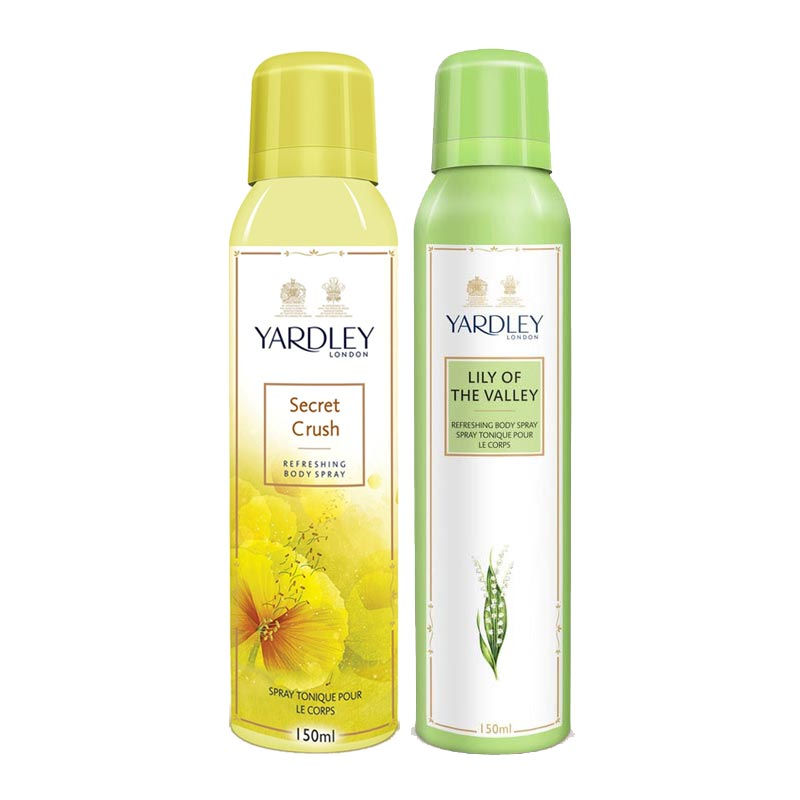 Yardley London Secret Crush, Lily Of The Valley Pack of 2 Deodorants