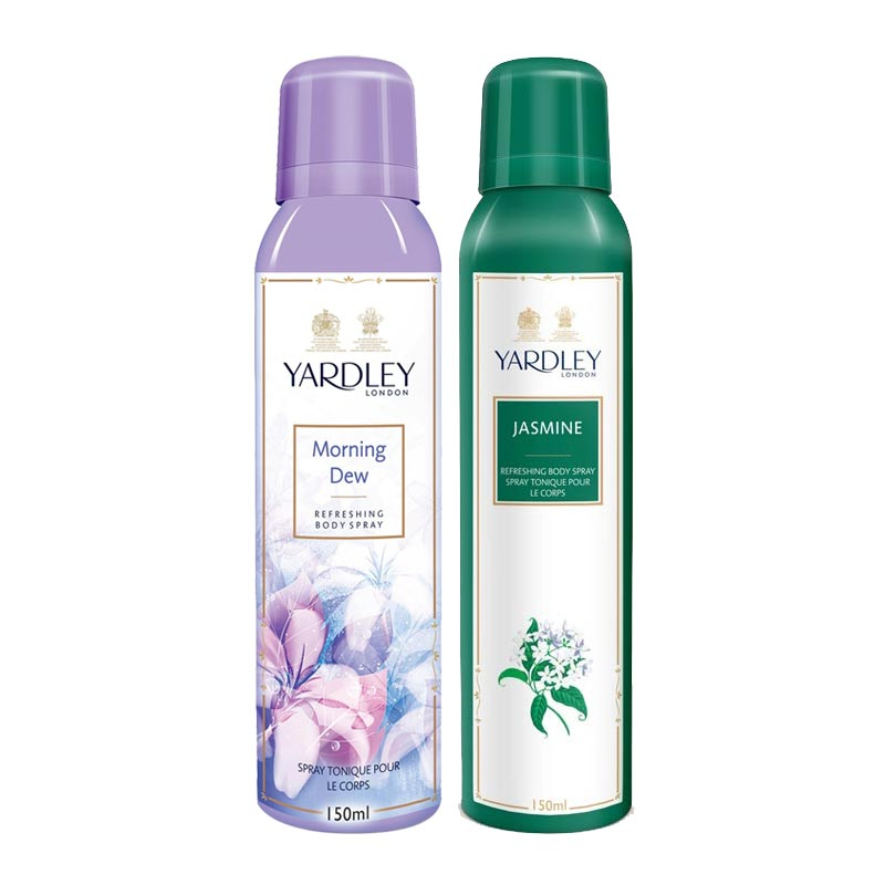 Yardley London Morning Dew, Jasmine Pack of 2 Deodorants