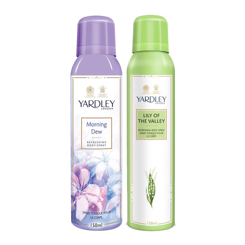 Yardley London Morning Dew, Lily Of The Valley Pack of 2 Deodorants