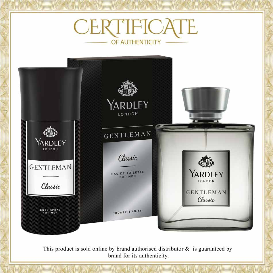 Yardley Gentleman Classic Perfume And Deodorant Gift Set