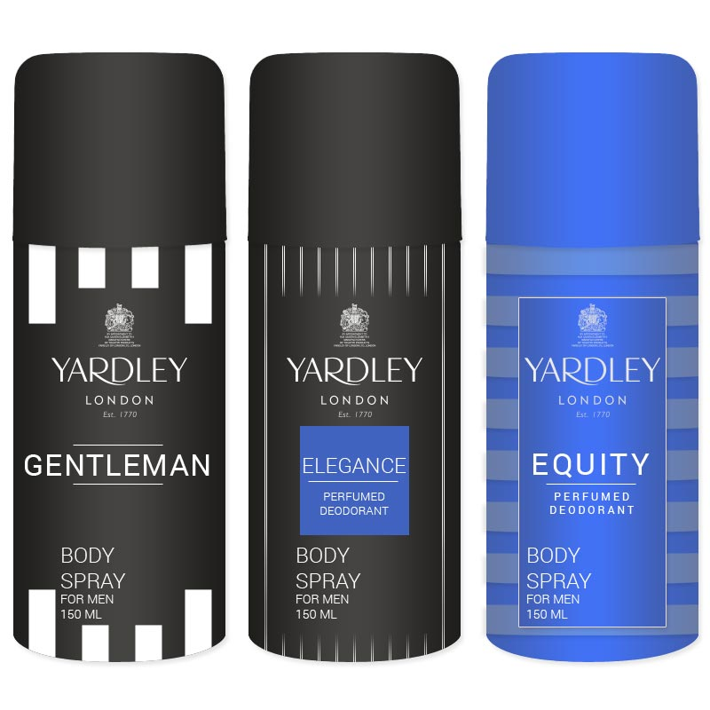 Yardley Gentleman Elegance Equity Pack Of 3 Deodorants