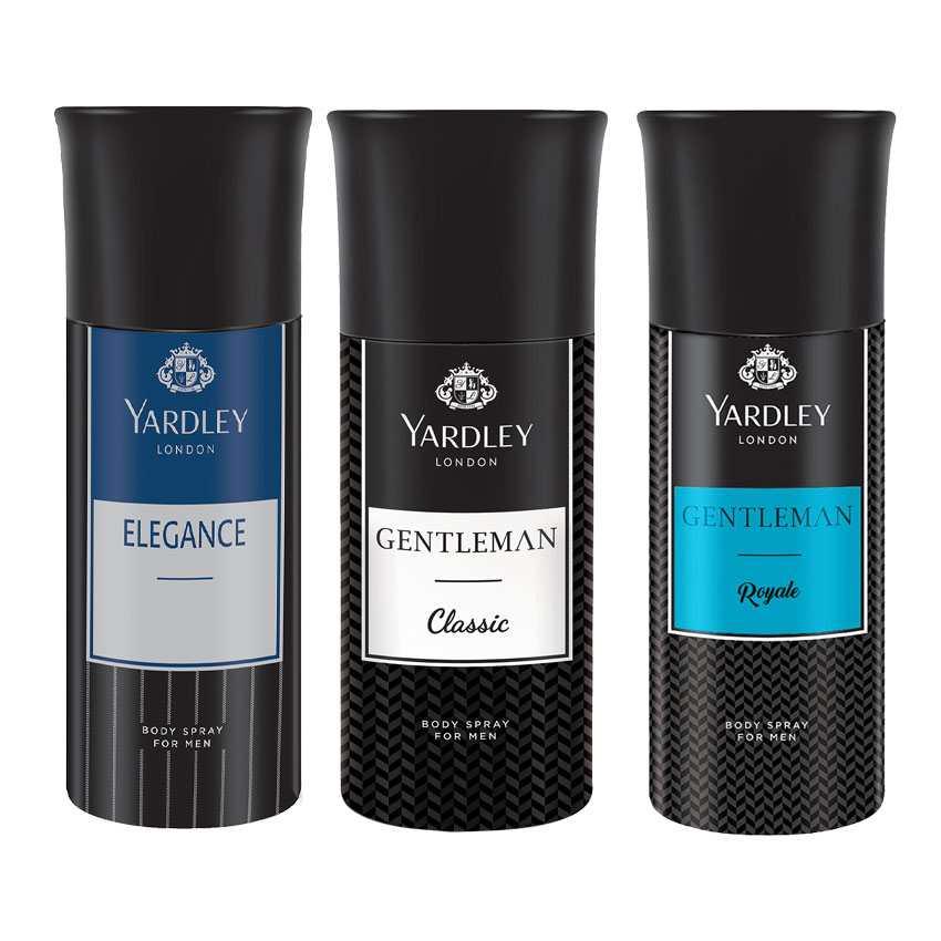 Yardley London Elegance, Gentleman, Gentleman Royale Set of 3 Deodorants