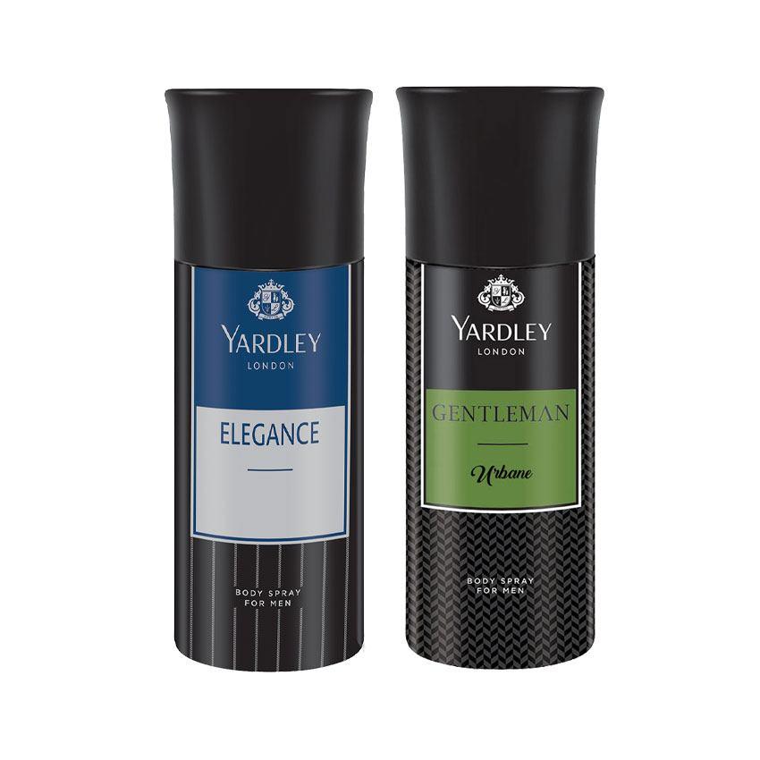 Yardley London Elegance, Gentleman Urbane Set of 2 Deodorants