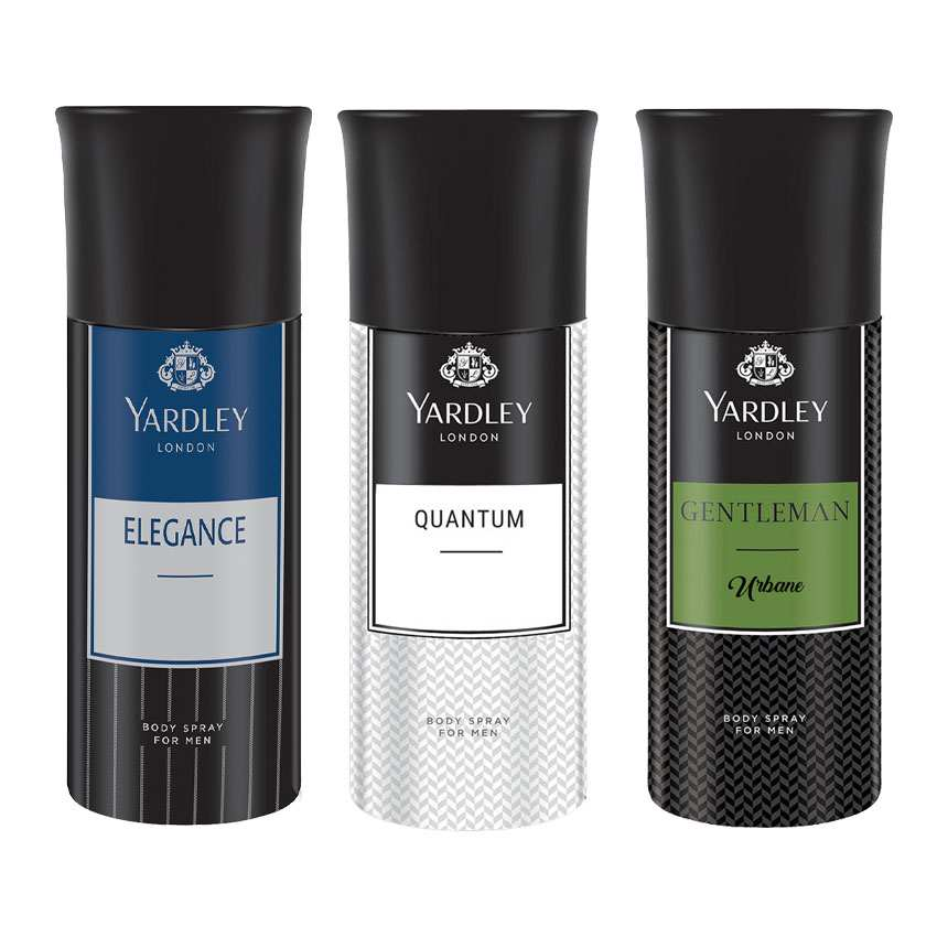 Yardley London Elegance, Quantum, Gentleman Urbane Set of 3 Deodorants