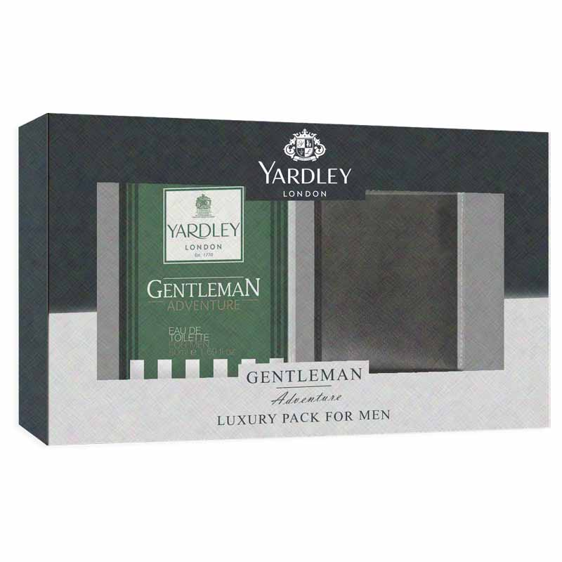Yardley London Gentleman Adventure Perfume And Wallet Luxury Gift Set