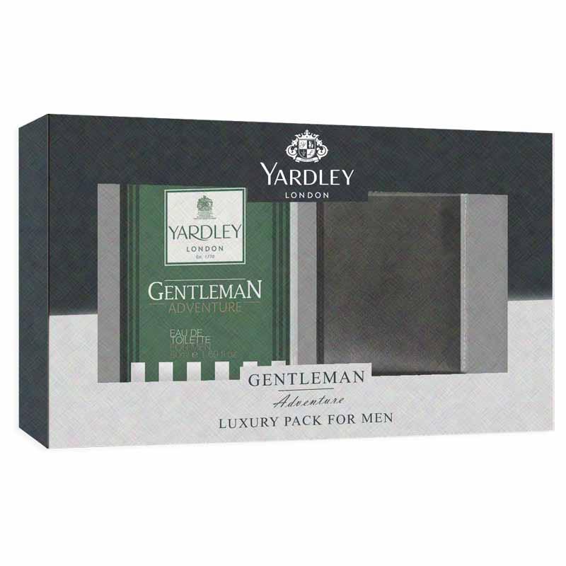 Yardley London Gentleman Adventure Perfume And Wallet Luxury Gift Set