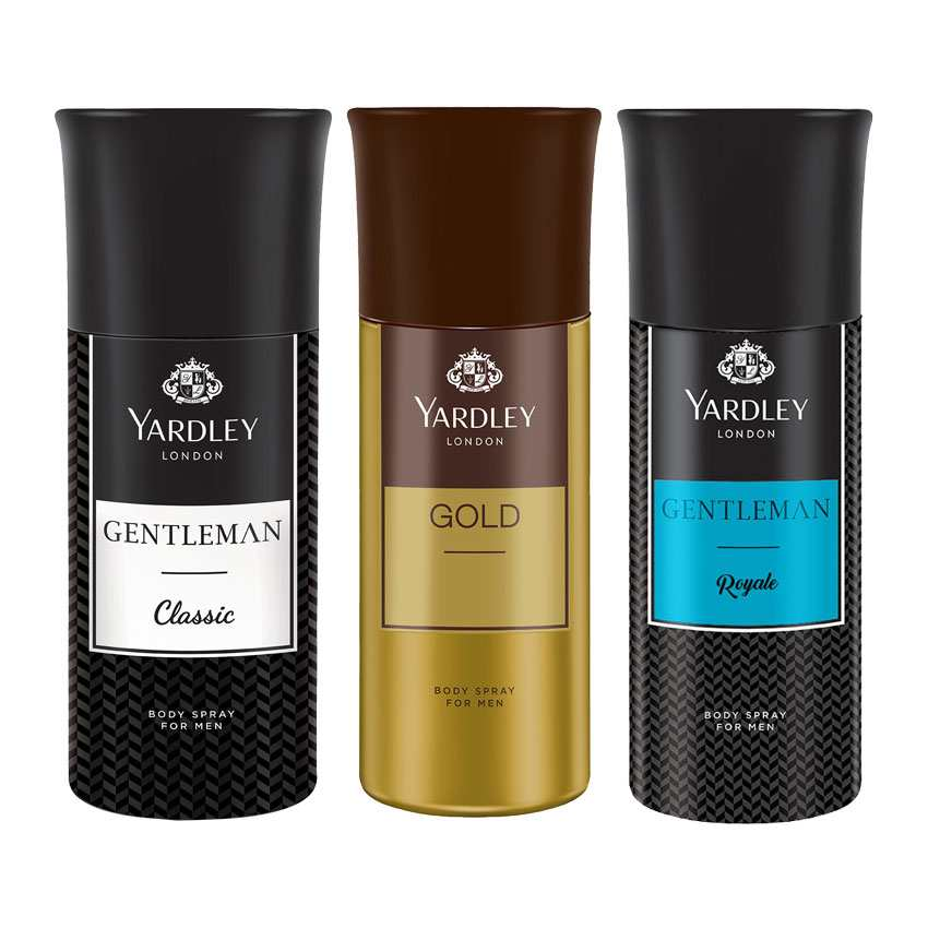 Yardley London Gentleman, Gold, Gentleman Royale Set of 3 Deodorants