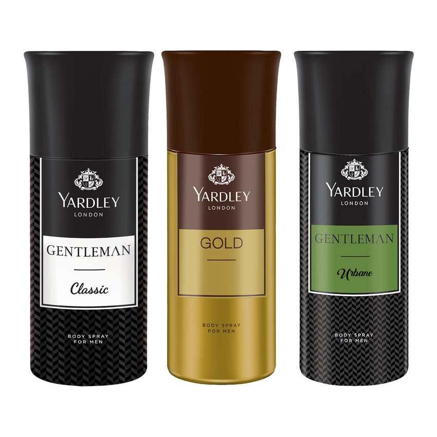 Yardley London Gentleman, Gold, Gentleman Urbane Set of 3 Deodorants