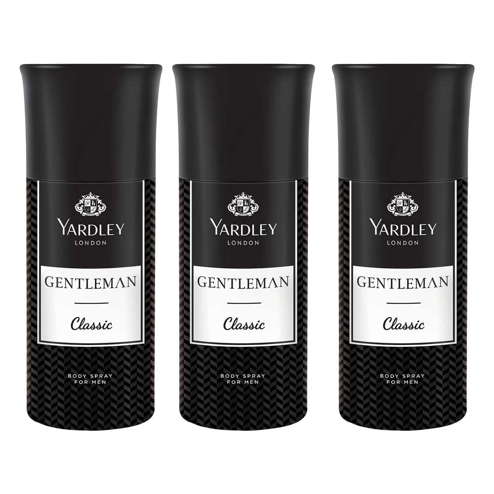 Yardley Gentleman Pack Of 3 Deodorants