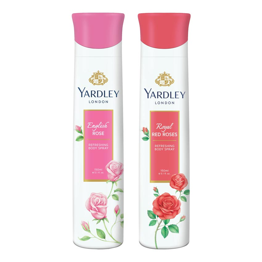 Yardley London English Rose, Red Roses Pack of 2 Deodorants