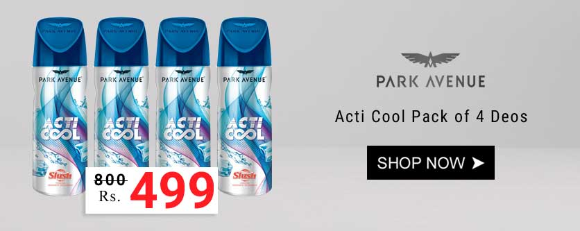 Park Avenue Acti Cool Slush Pack of 4 Deodorants @ Rs.499/- only