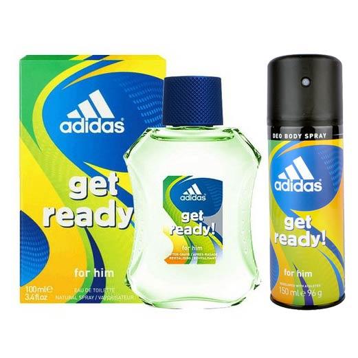 Adidas Get Ready Perfume And Deodorant Combo