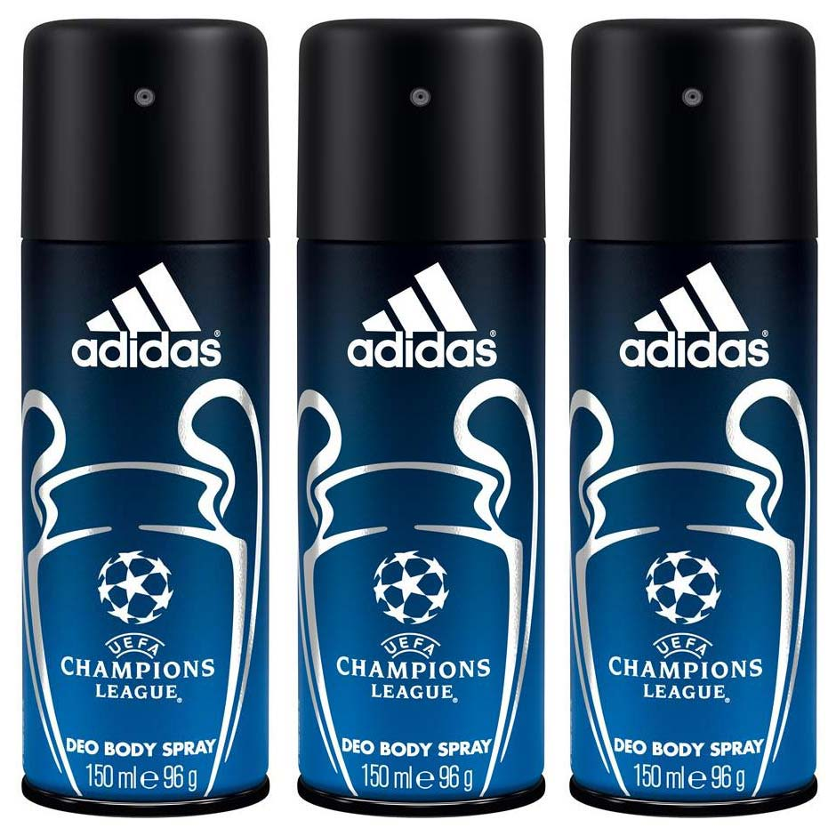 Adidas Champions League Pack Of 3 Deodorant