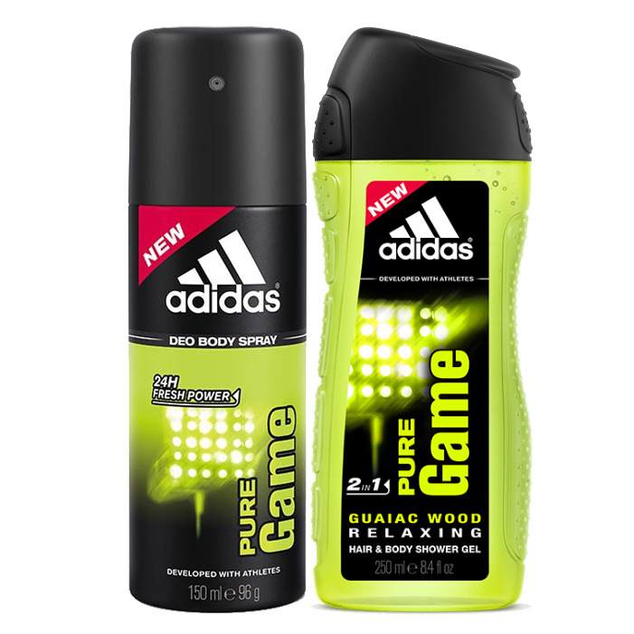 Destruir Lidiar con familia real  Buy Adidas Pure Game Combo Of Shower Gel And Deodorant for men online at  lowest price @ DeoBazaar.com