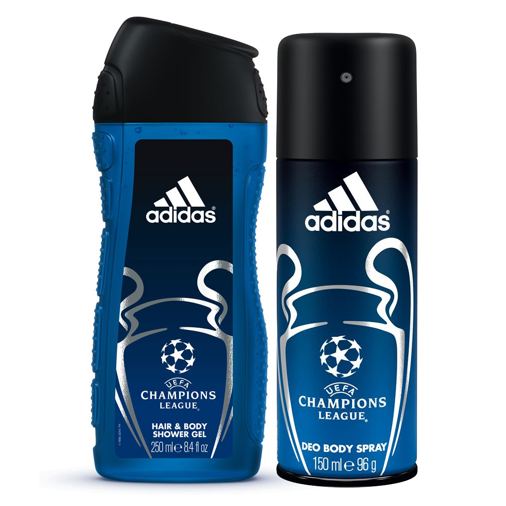 Adidas UEFA Champions League Combo Of 2 in 1 Shower Gel And Deodorant