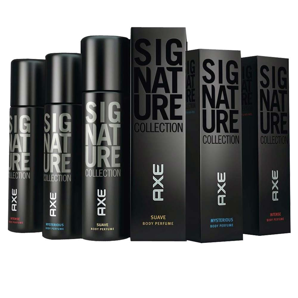 Axe Signature Mysterious, Suave And Intense Pack Of 3 Perfumed Deodorant Spray