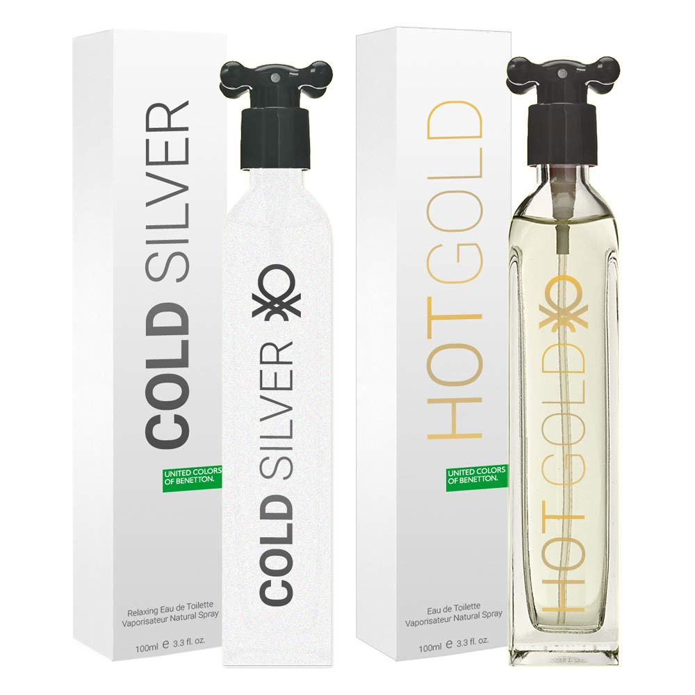 buy benetton hot gold and cold silver pack of 2 perfumes