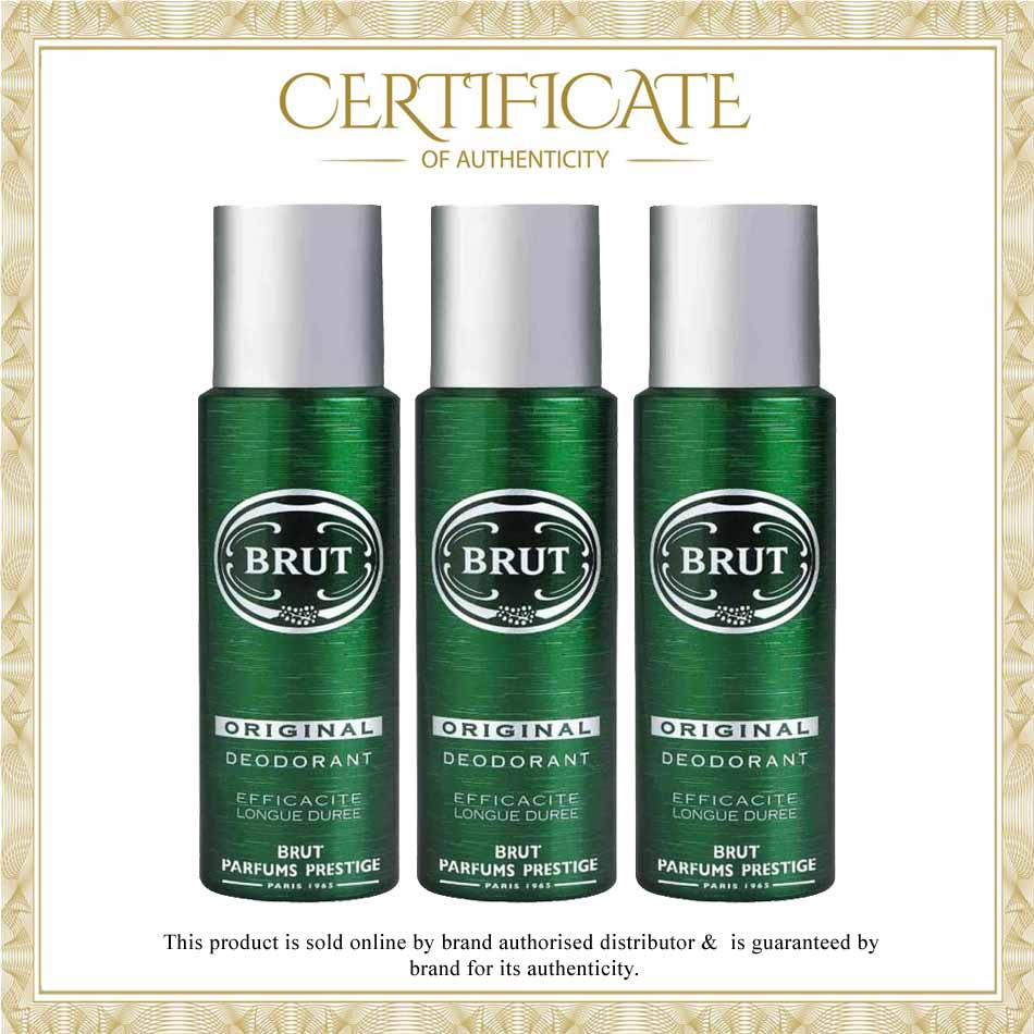 Brut Original Pack Of 3 Deodorant Spray