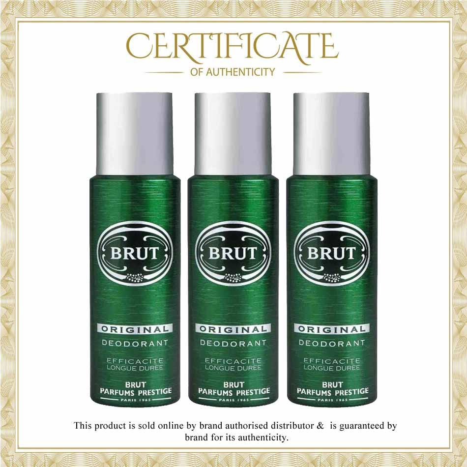 Brut Original Pack Of 3 Deodorant Spray