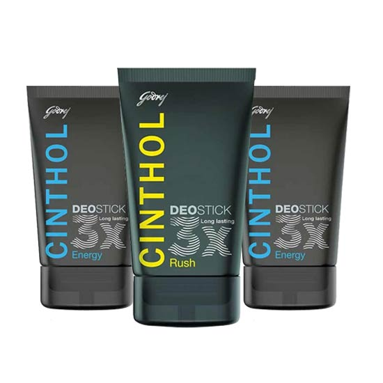 Cinthol 2 Energy And Rush Pack Of 3 Long Lasting Deosticks