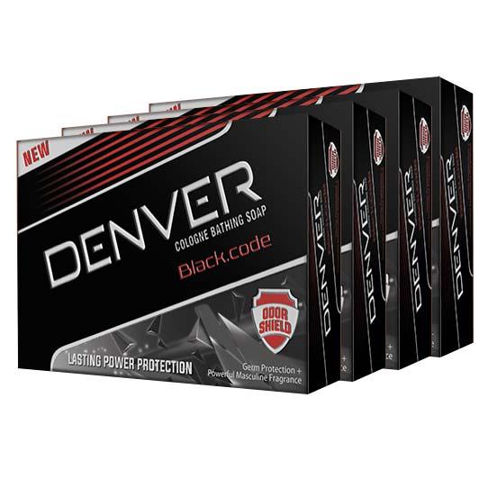 Denver Pack of 4 Black Code Cologne Bathing Soap