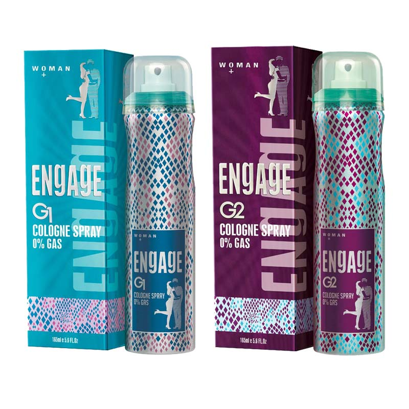 Engage G1 And G2 Pack Of 2 No Gas Cologne Deodorant