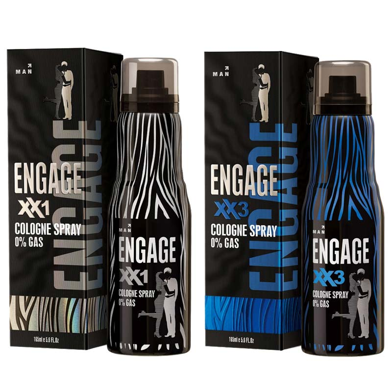 Engage XX1 And XX3 Pack Of 2 No Gas Cologne Deodorant
