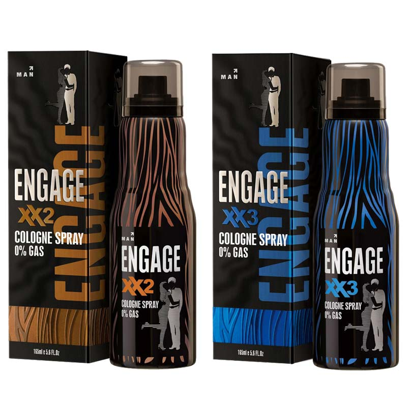 Engage XX2 And XX3 Pack Of 2 No Gas Cologne Deodorant