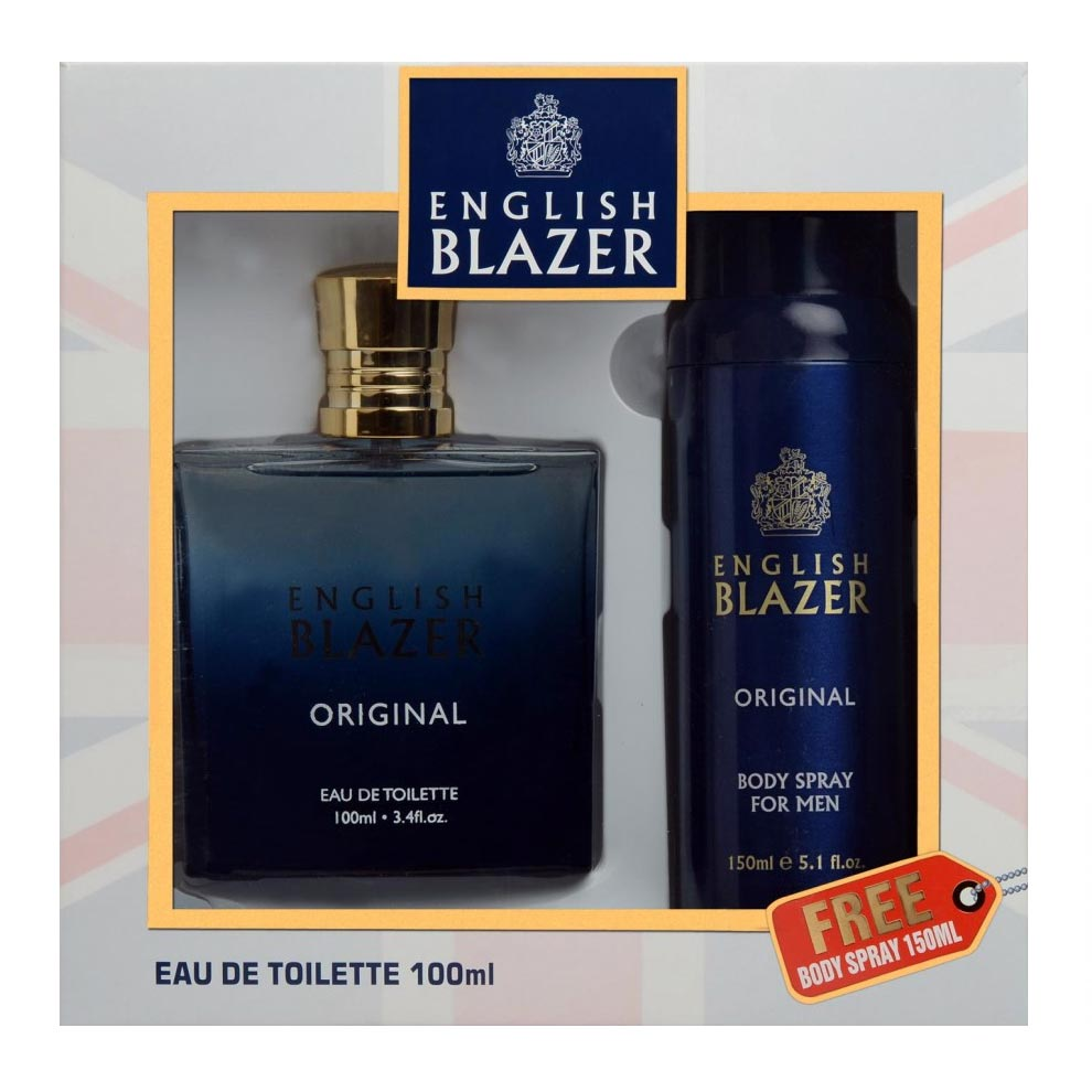 English Blazer Original Perfume And Deodorant Giftset