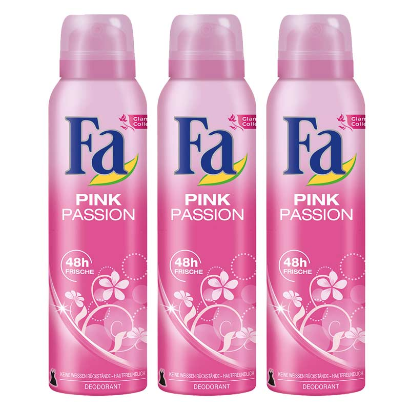 FA Pink Passion Pack Of 3 Deodorants