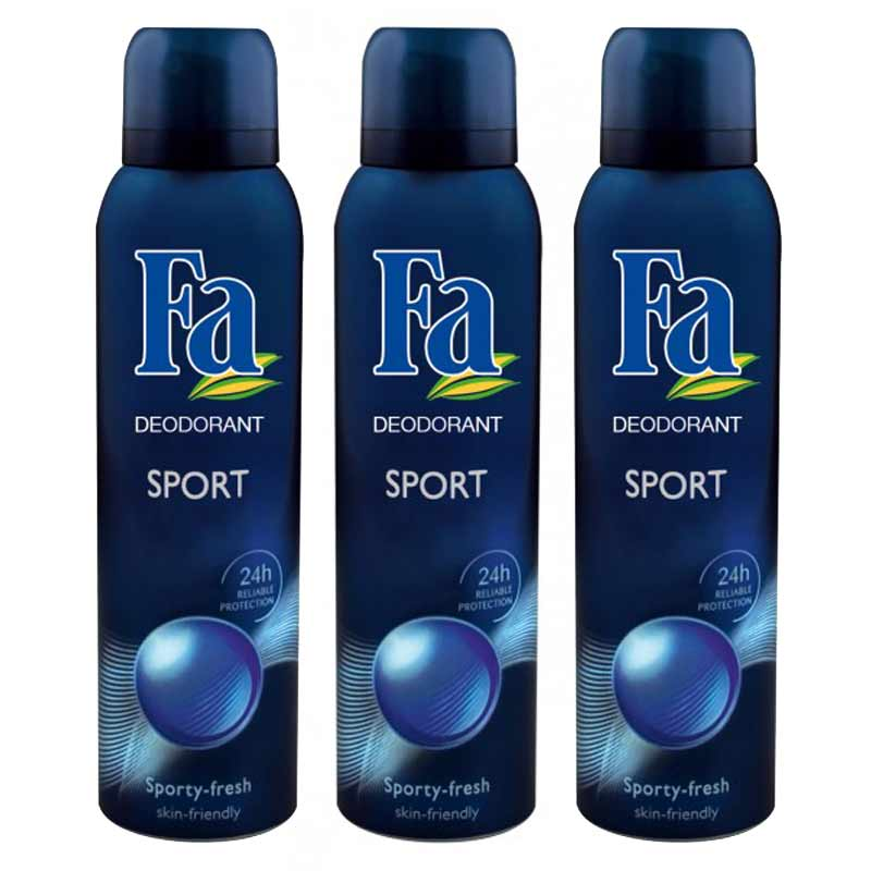 FA Sport Pack Of 3 Deodorants