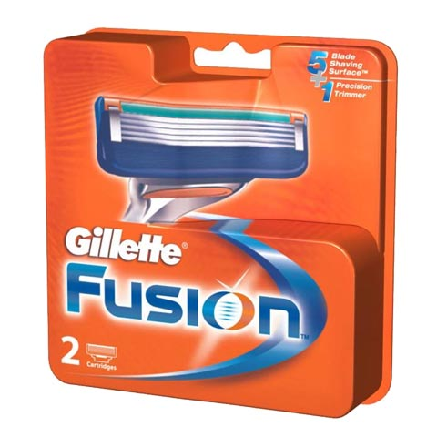 Gillette Fusion Pack Of 2 Cartridges