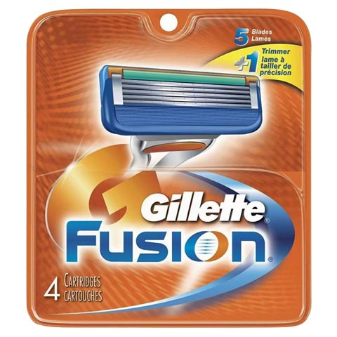 Gillette Fusion Cartridges(Pack of 4)