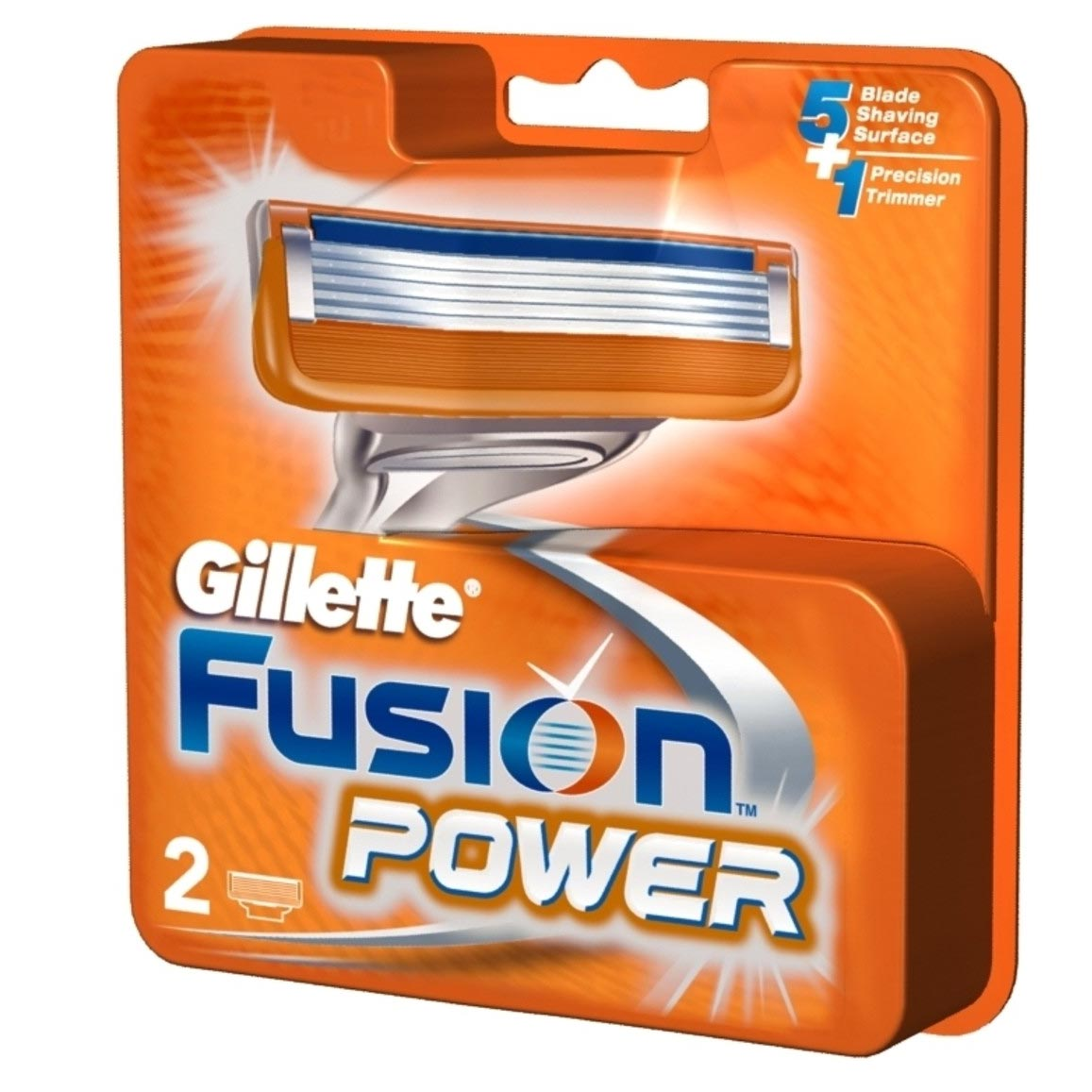Gillette Fusion Power Pack Of 2 Cartridges