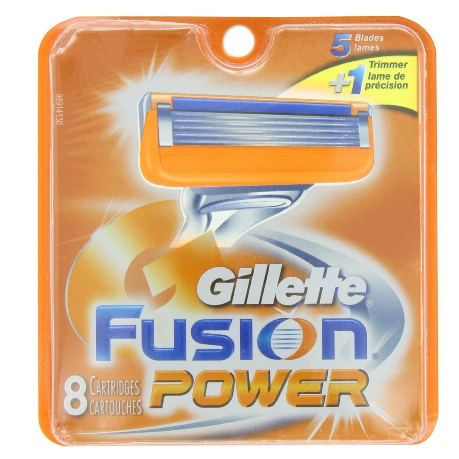 Gillette Fusion Power Pack Of 8 Cartridges