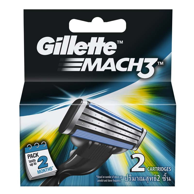Gillette Mach 3 Pack Of 2 Cartridges
