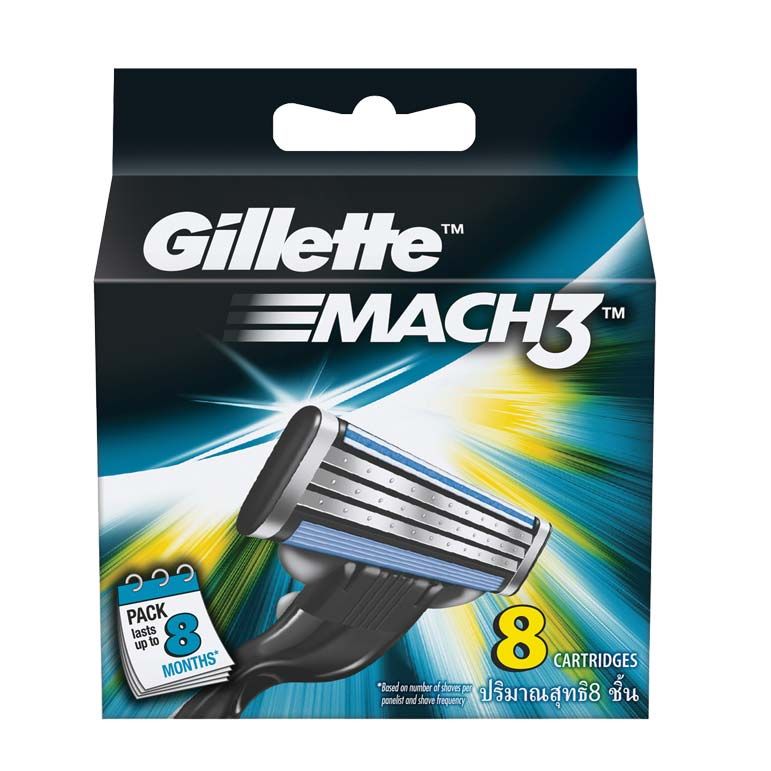 Gillette Mach 3 Pack Of 8 Cartridges