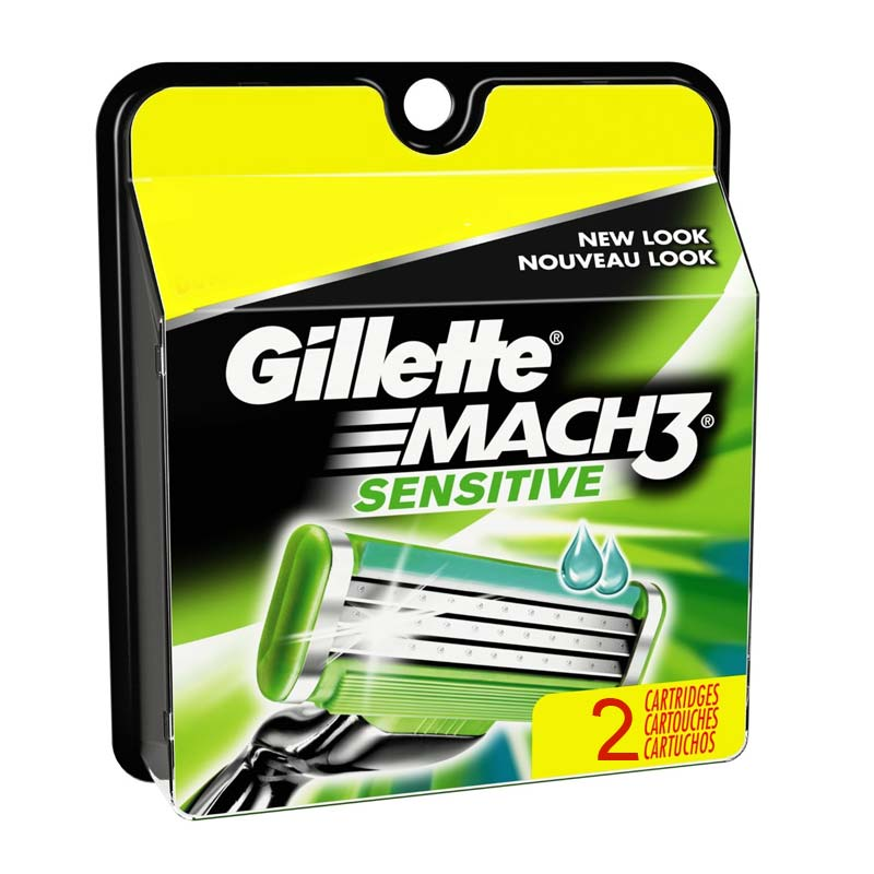 Gillette Mach 3 Turbo Sensitive Pack Of 2 Cartridges