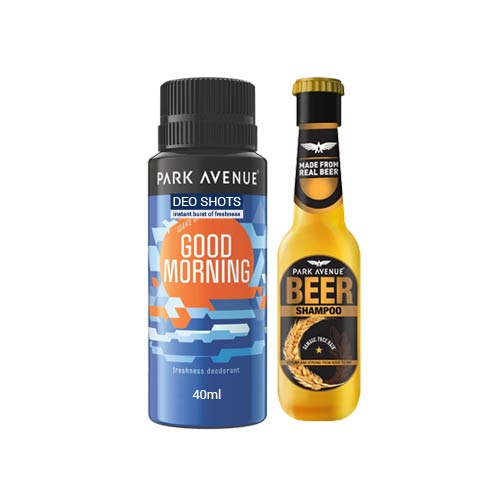 Park Avenue Combo Of Good Morning Shot Deodorant And Mini Beer Shampoo