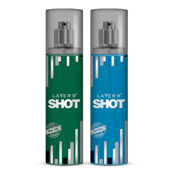 Layer'r Shot Royal Jade And Blue Blaze Pack of 2 Deodorants