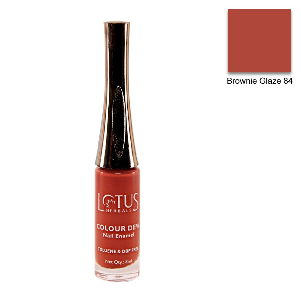 Lotus Herbals Color Dew Nail Enamel Brownie Glaze 84