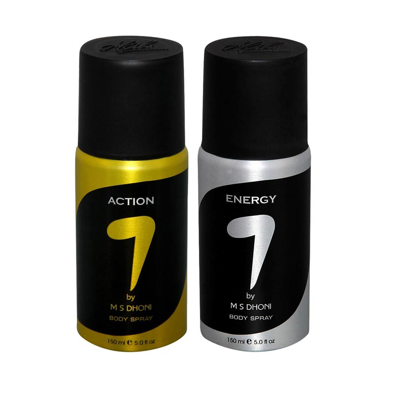 7 by MS Dhoni Action, Energy  Pack of 2 Deodorants