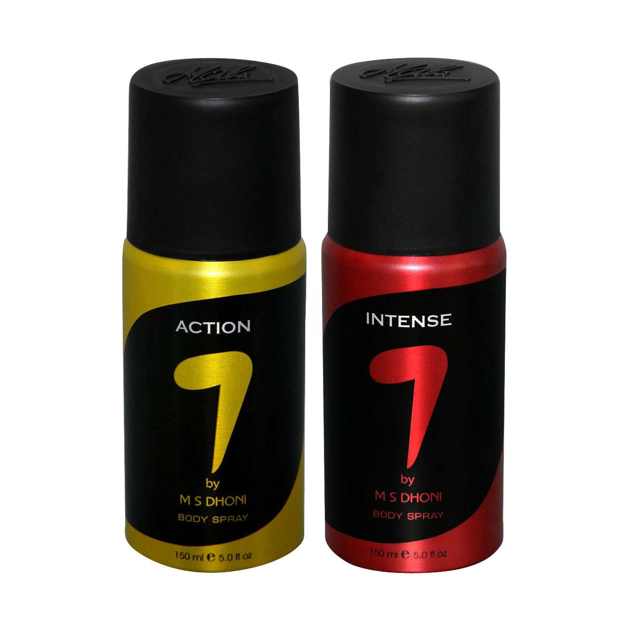 7 by MS Dhoni Action, Intense Pack of 2 Deodorants
