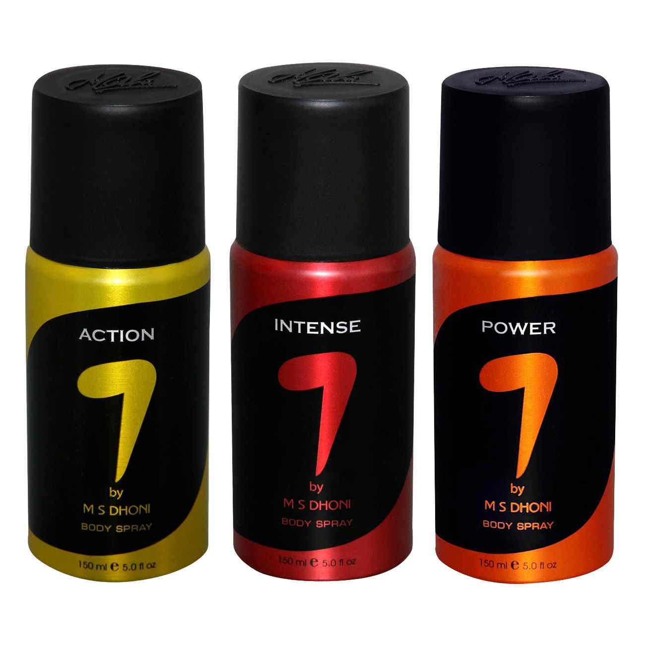 7 by MS Dhoni Action, Intense, Power Pack of 3 Deodorants