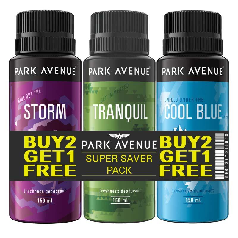 Park Avenue Pack Of 3 Deodorants - Buy 2 Get 1 Free