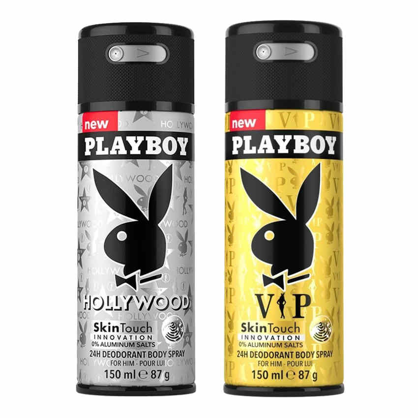 Playboy Hollywood, VIP Pack of 2 Deodorants for men