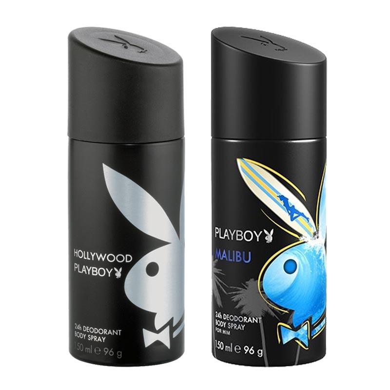 Playboy Hollywood, Malibu Pack of 2 Deodorants for men