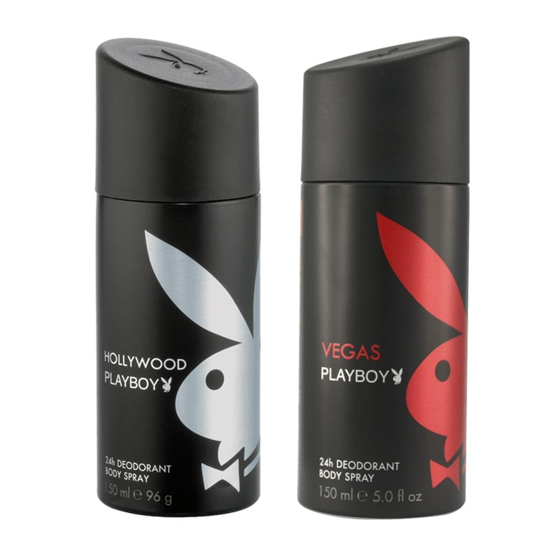 Playboy Hollywood, Vegas Pack of 2 Deodorants for men